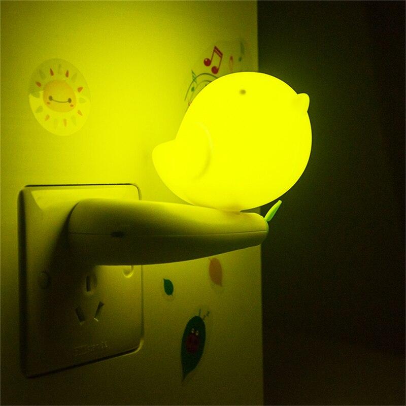 Schöne Vogel Form Design Smart Morgens Bis Abends Lichtsteuerung  Led Nachtlichter Mit Schlafzimmer Innenbeleuchtung Us Stecker