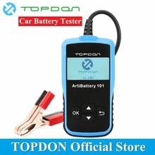 TOPDON Arti батарея 101 анализатор тестер для батарей автомобильный диагностический Cranking зарядная Система инструменты 100-2000CCA 12 в легкие грузовики