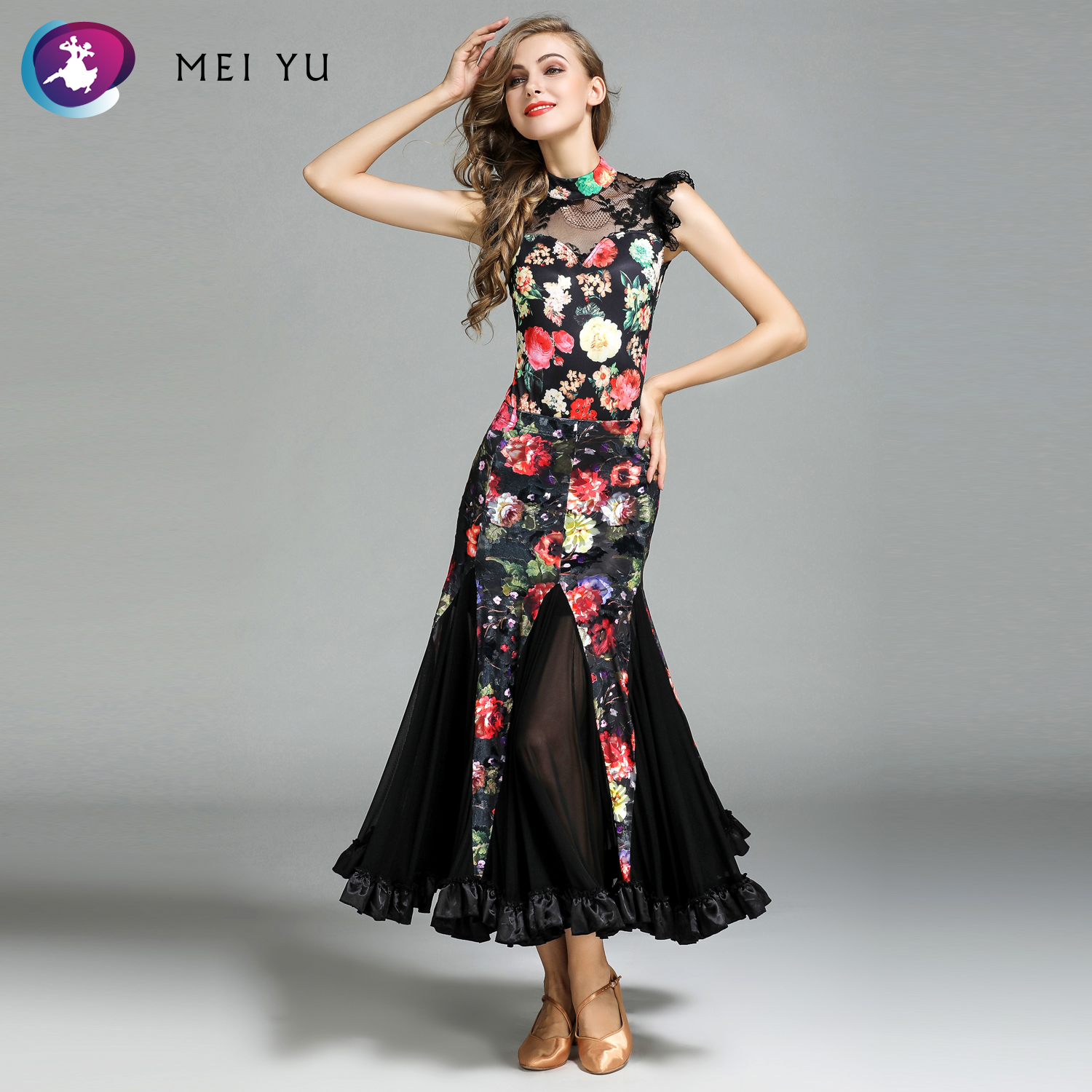 Dashing Mei Yu My771 And My778 Modern Dance Costume Top And Skirt Suits Dance Dress Ballroom Costume Women Lady Evening Party Dress Stage & Dance Wear Ballroom