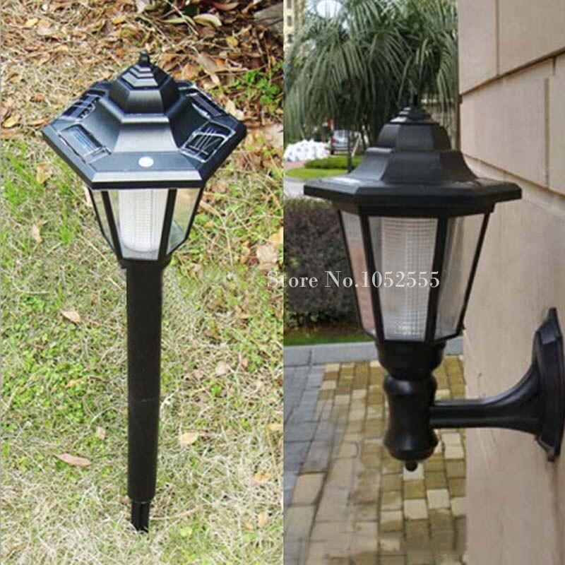 European Style Solar Powered 65cm LED Light Waterproof Garden Road Path Lawn Floor Lamp Ground Lamp Wall Lamp Outdoor Lights K59