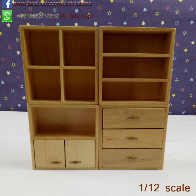 Sensational 1 12 Scale Dollhouse Furniture Wooden Living Room Miniature White Cabinet With 4 Section Furniture Cupboard Doll Toys In Furniture Toys From Toys Download Free Architecture Designs Scobabritishbridgeorg