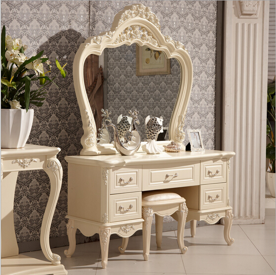 Ivory white bedroom dresser antique rubber wood dresser