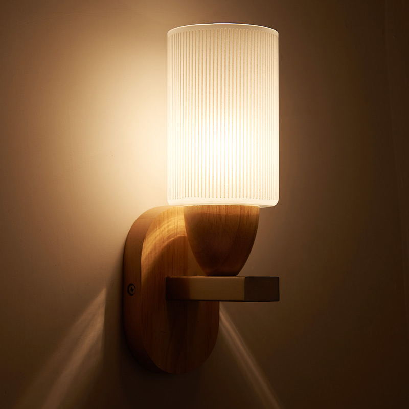 Led дуб стены простой современный творческая гостиная бра энергосберегающие лампы ночники дерево проход коридор лампа ya873