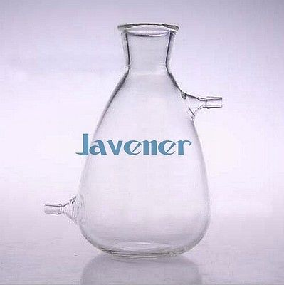 2500ml Glass Filtering Flask Lab Filtration Bottle Double 10mm Hose Vacuum Adapter Glassware 2 pieces lot 500ml monteggia gas washing bottle porous tube lab glass gas washing bottle muencks