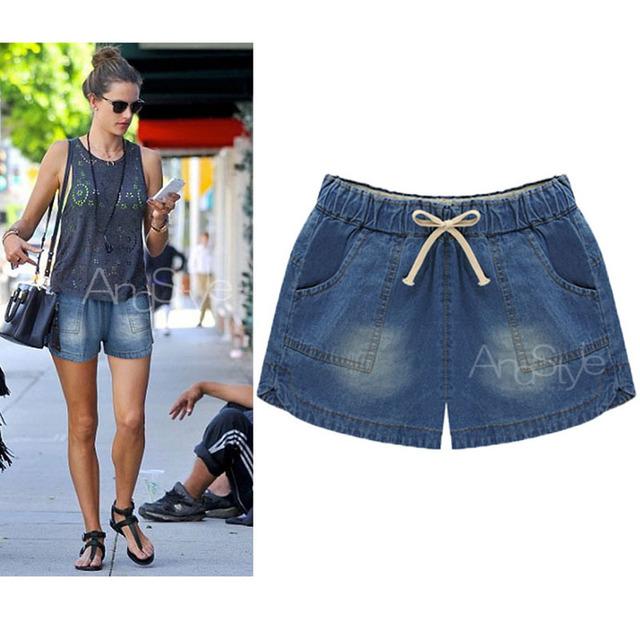 Novas mulheres da Moda jeans Verão Shorts Jeans Stretch Slim mulher Shorts Jeans shorts Jeans Casuais Solta Plus Size 5XL