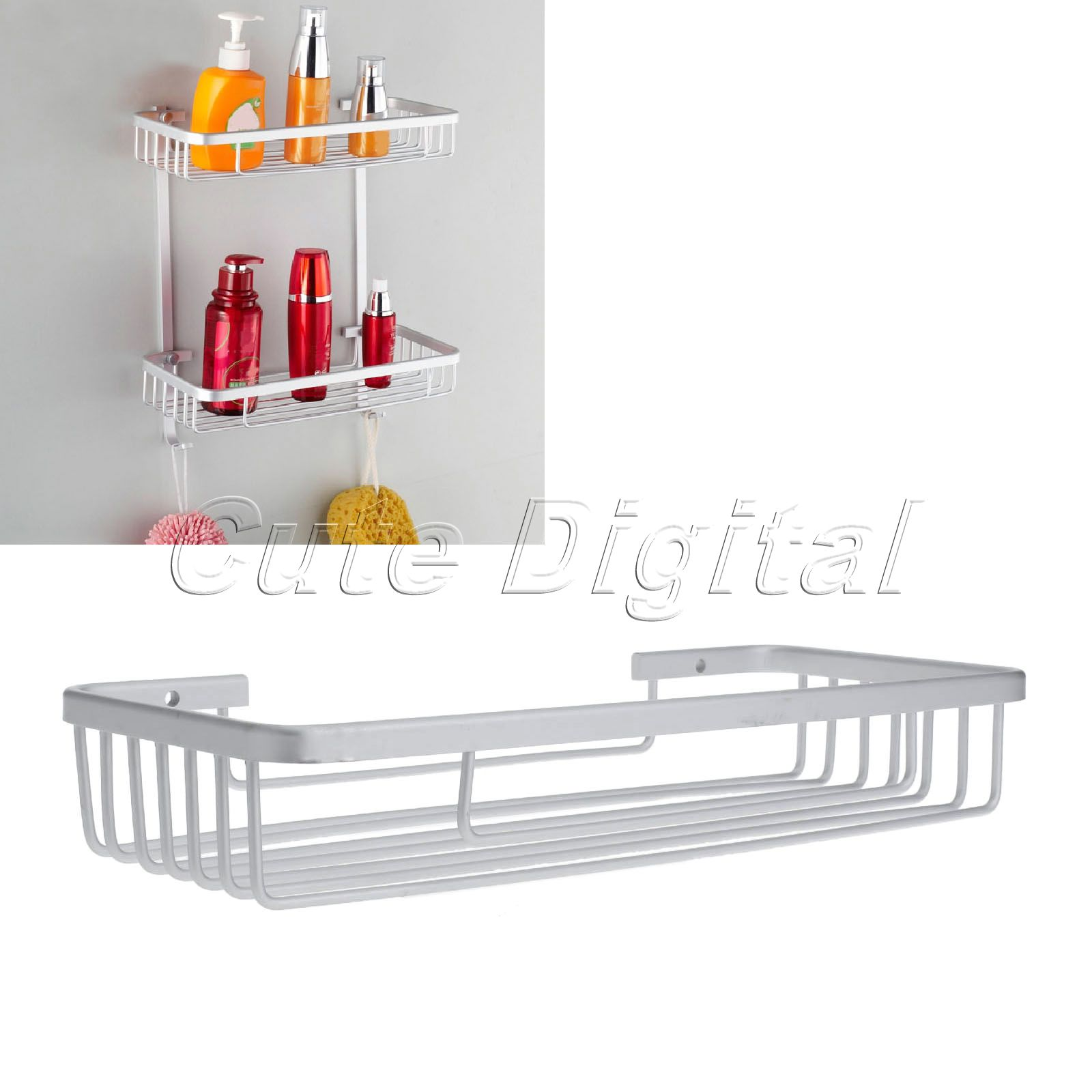 Single Tier Aluminum Bathroom Storage basket Soap Shampoo Basket Shelf Bathroom Rack Holder Wall Mounted  Bathroom Accessories universal car windshield swivel mount holder for cell phone mp3 mp4 gps black