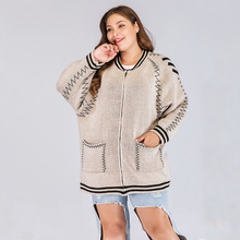 Knitted Maternity Coat Large Size Ladies Fashion Long Sleeve Knit Womens Top  Clothing High Quality Cotton