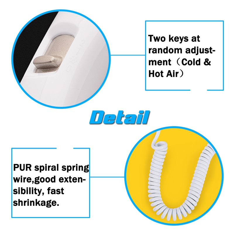 Image 2 - 220V 1300W 2 Modes Adjustable Usb Socket Wall Hanging Type Electric Hotel Home Bathroom Hair Dryer Holder Salon Hair Blow Drye-in Hair Dryers from Home Appliances