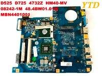 원래 ACER D525 D725 4732Z 노트북 마더 보드 HM40-MV 08242-1M 48.4BW01.01M MBN4401001 좋은 무료 배송 40 테스트