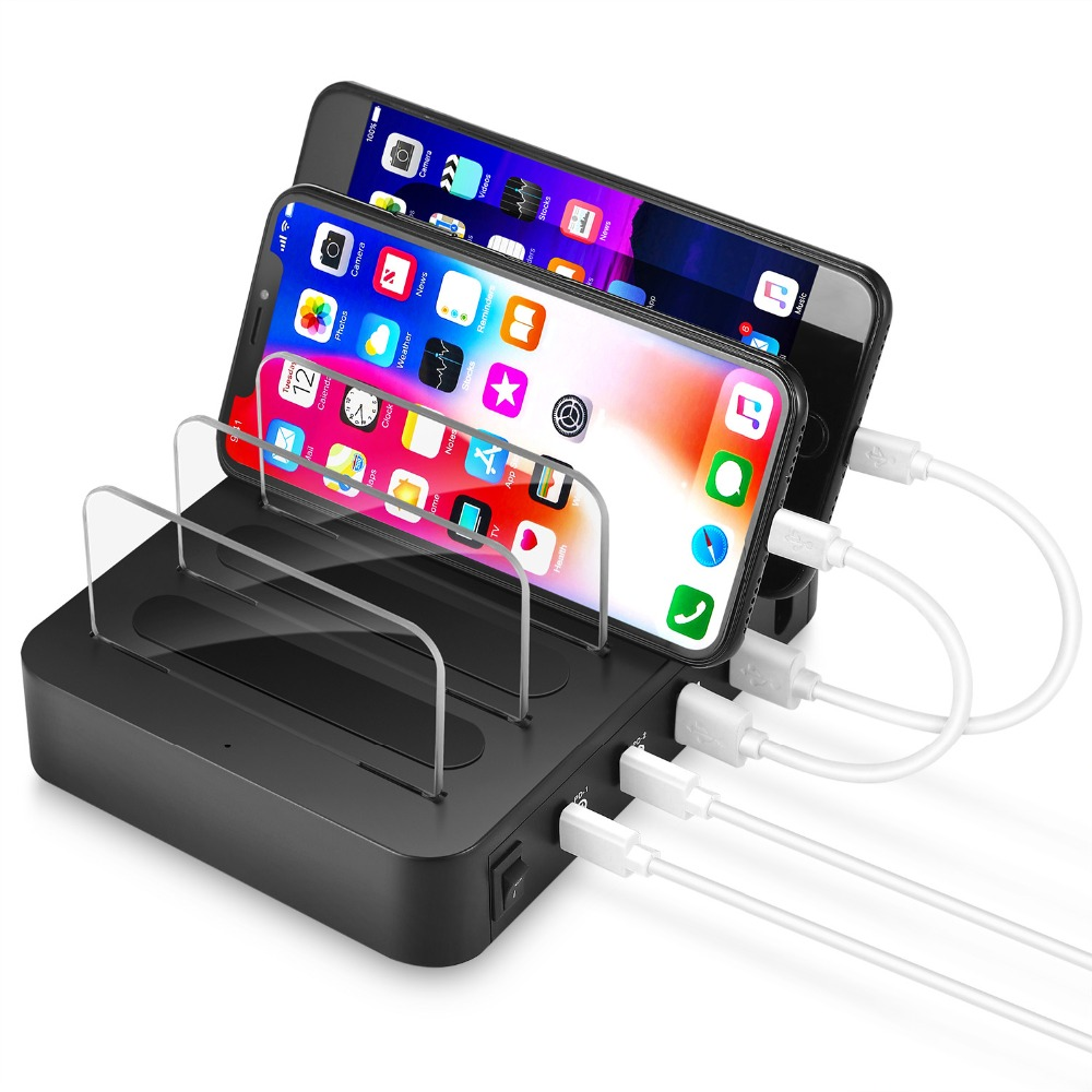 Image 4 - 4 Port USB 3.1 Type C Charger 40W Dual PD Charging Station Dock Desktop Charger For iphone Samsung Huawei Docking Station-in Mobile Phone Chargers from Cellphones & Telecommunications