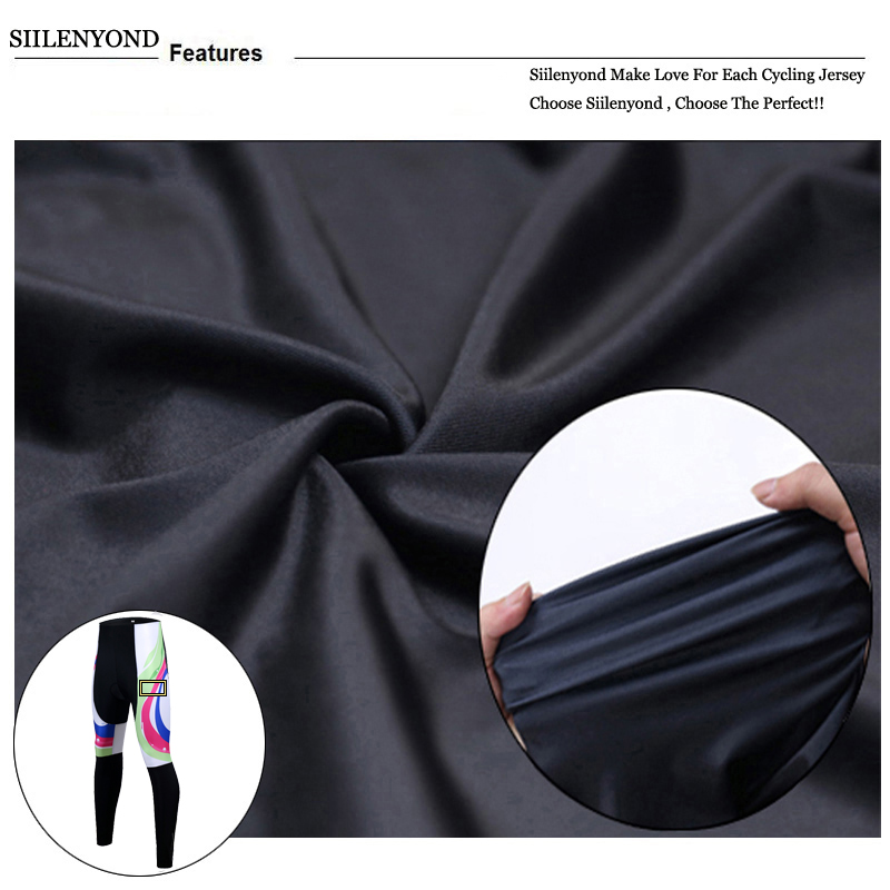 Siilenyond 2019 Women Winter 3D Gel Padded Cycling Pants Shockproof Mountain Bike Cycling Tight Racing Bicycle Cycling Trousers 7
