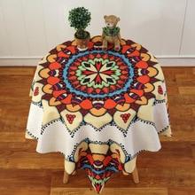 Mandala tablecloth Plants Pattern Cotton Linen waterproof Tablecloths Decorative Home Decor Table Cloth High Quality