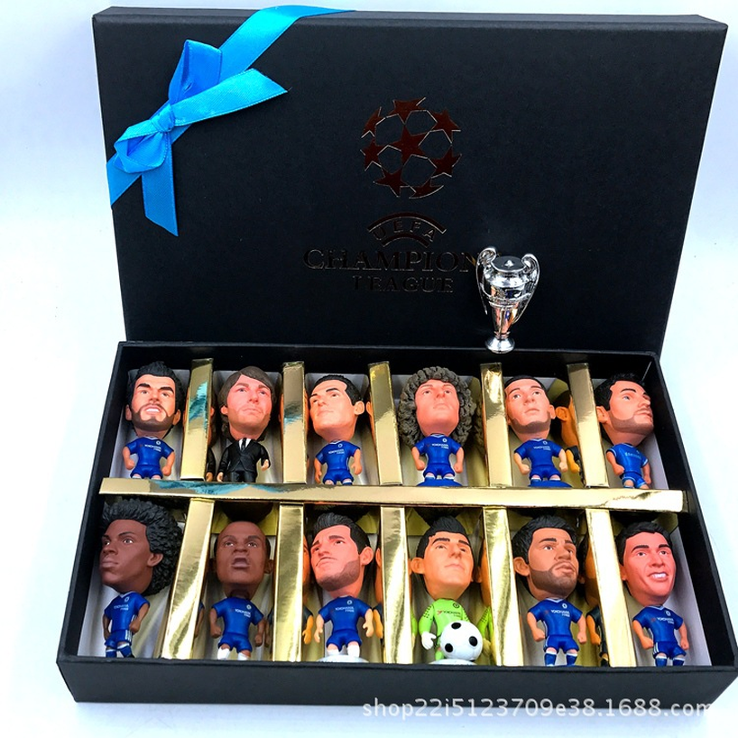 2019 Football Doll Gift Box Spot C Romesi Azarbu Feng World Cup European Football Suit Doll Ornaments Mens Gift 12/PCS