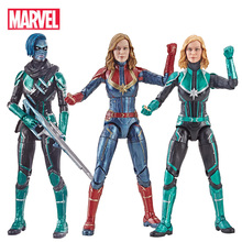 Marvel Avengers Endgame Legends Series Captain Marvel Head Can Be Changed PVC Action Figure Collectible Model Dolls Toy For Kids