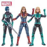 Marvel Avengers Endgame légendes série capitaine Marvel tête peut être changé PVC figurine à collectionner modèle poupées jouet pour enfants