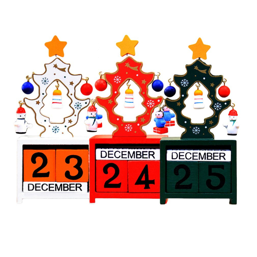 Min Wood Christmas Calendars Christmas Decorations For Home Xmas Ornament Advent Calendars Navidad Children's Christmas Gifts