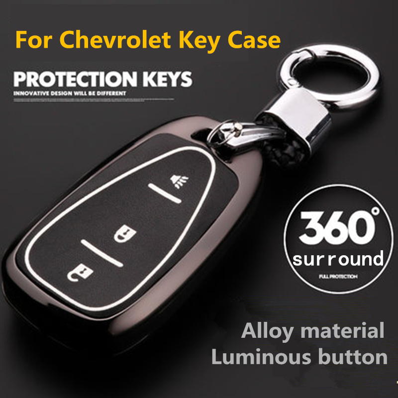 Car Key Cover Case Fob Shell For Chevrolet Malibu Equinox CRUZE Camaro Spark Sonic Volt Bolt Trax Impala Traverse 2016 2017 2018