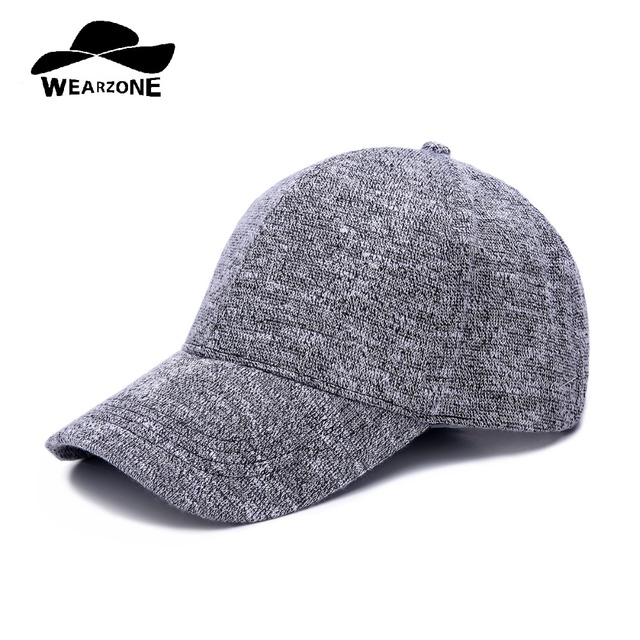 ab925c1f232 WEARZONE Unisex Knit Textured Baseball Cap Soft Adjustable Dad Hats Winter  Warm Sports Hat for Women Men