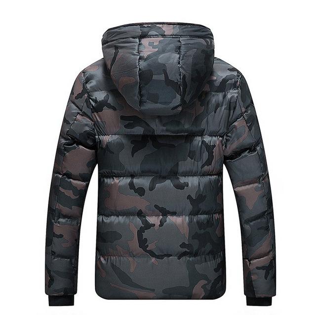 Men's Fashion Camouflage Parkas Long Casual Winter Jacket Men Thick Warm Jacket Men Padded Winter Coats Drop Shipping 5XL