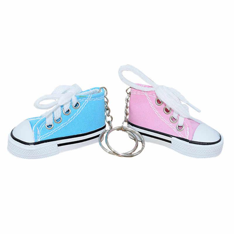 Rất nhiều Mini Silicone Giày Vải Keychain Túi Người Phụ Nữ Quyến Rũ Người Đàn Ông Trẻ Em Vòng Chìa Khóa Móc Chìa Khóa giày unisex chính rin