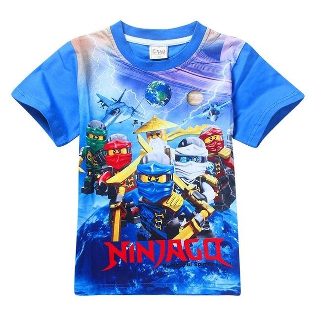 קיץ העליון תינוק ילד חולצה בגדי ילדים בני Ninja בגדי Ninjago t חולצה ילדי בגדי כותנה תינוק ילד למעלה Tees בנות