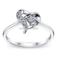 Fashion 9K White Gold Engagement Ring For Women 0 3 Carat ASCD Lab Grown Diamond Promise
