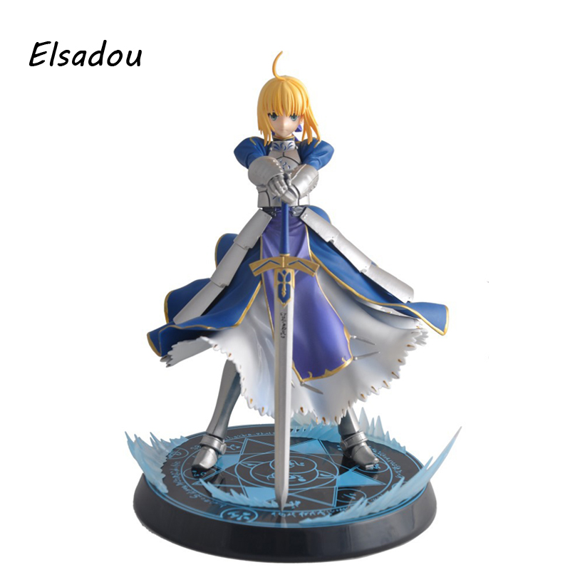 Elsadou Fate Stay Night UBW Saber Sword Action Figure Toy Doll ynynoo japanese anime figures fate stay night saber lily doll the sword of victory aciton figure model toy 21cm in box pvc