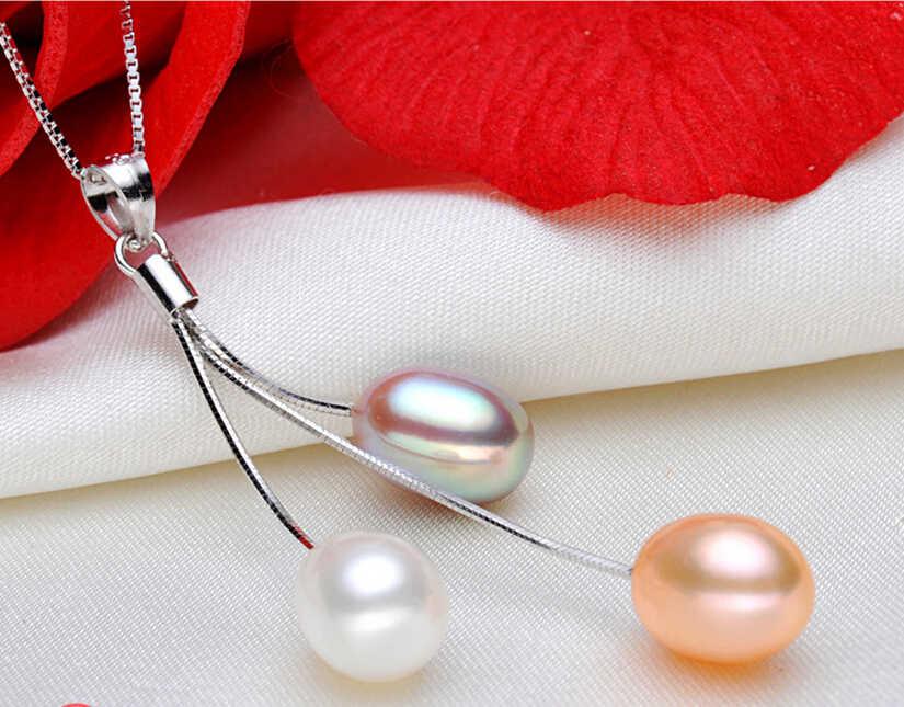 ZHBORUINI 2019 Fashion Pearl Necklace Pearl Jewelry Multicolour Natural Pearl Pendant 925 Sterling Silver Jewelry For Women Gift