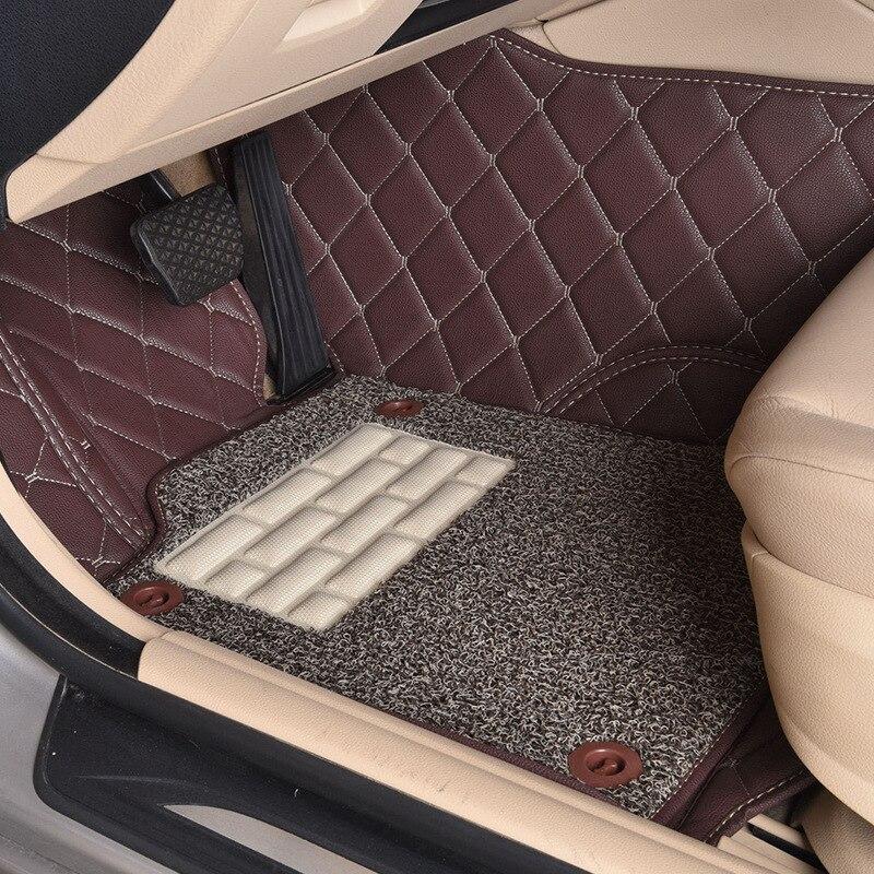 Myfmat пользовательские ног автомобильные коврики кожаные коврики коврик для Lincoln MKX Бесплатная доставка, распродажа легкой чистки Ручная сти...