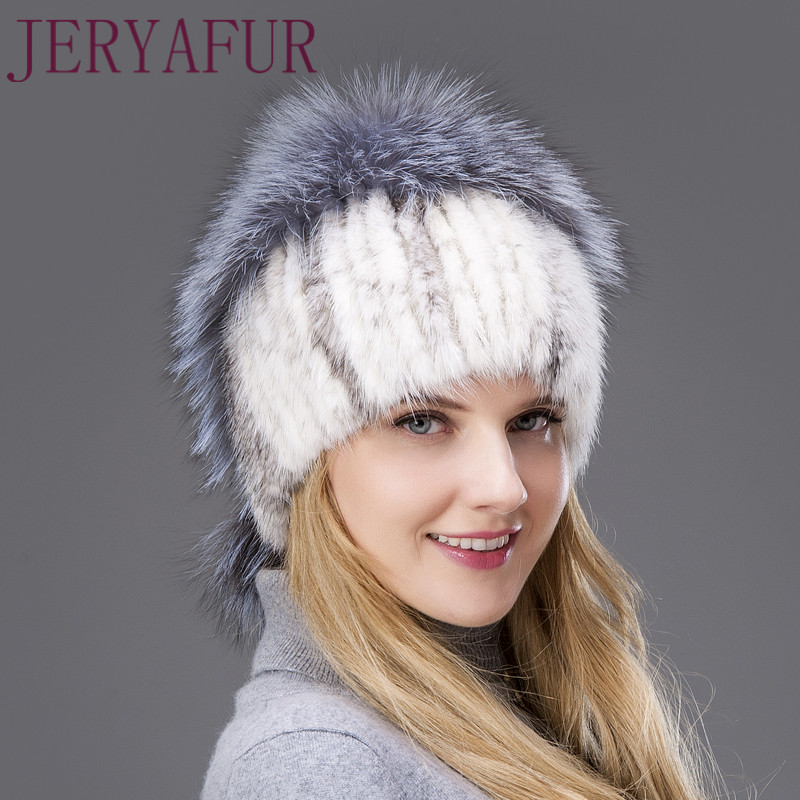 True natural silver fox fur autumn and winter water mink fur hat 2017 new fashionabl quality excellent hot net hat enough female