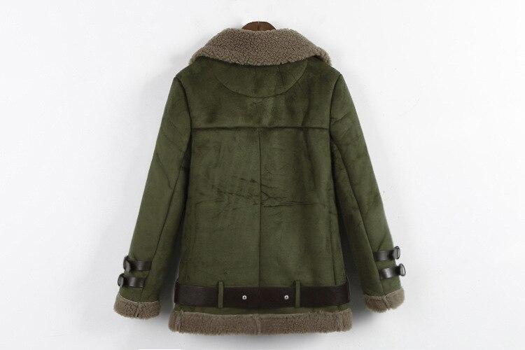 Manteau Marque Mince noir Suède army Mode camel Femmes Gamme Court Vintage De Haut Beige Green Épais Luxe vFqwvr