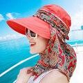 Marca Estilo de Las Mujeres Del Verano Plegable Grande Ancho Brim Floppy Beach Gorro Chapeu Sombreros Al Aire Libre Viseras Casquillo Del Sol Plegable Sombrero Anti-Ultravioleta