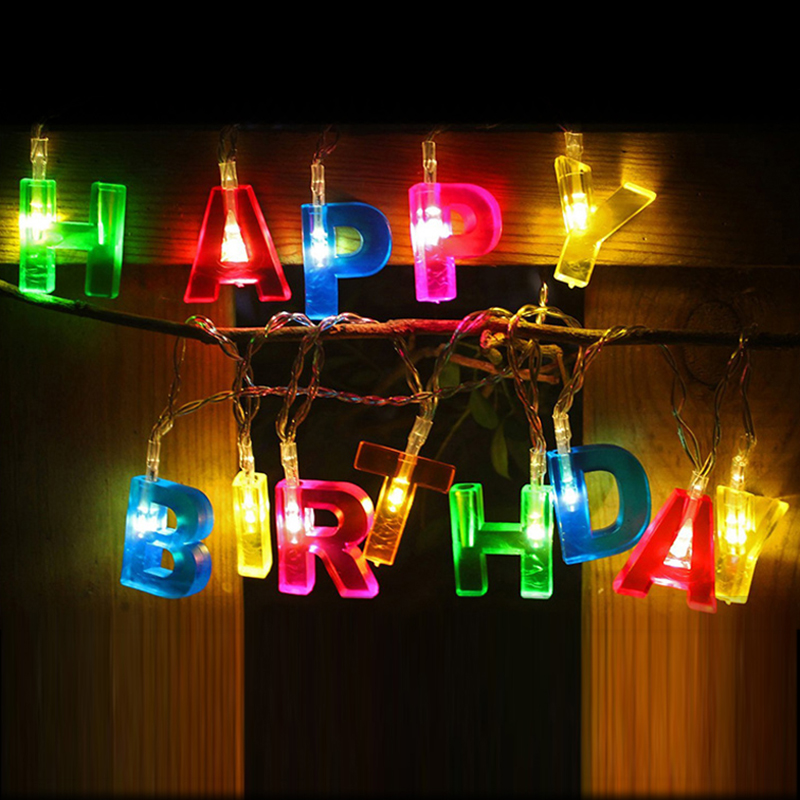 Lantern String Lights Decor : Aliexpress.com : Buy Happy Birthday Happy Birthday lantern string lights banquets decorative ...