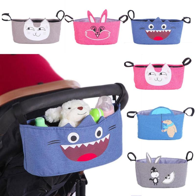 Baby Stroller Bag Nappy Diaper Bag Carriage Hanging Basket Large Capacity Maternity Mummy Stroller Organizer Baby Bottle Bag
