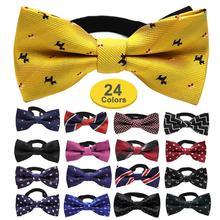 Новые модные элегантные милые вечерние галстуки, винтажные детские галстуки-бабочки для маленьких мальчиков и девочек, свадебные украшения