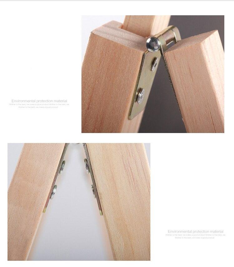 Quadro negro de madeira altura ajustável duplo