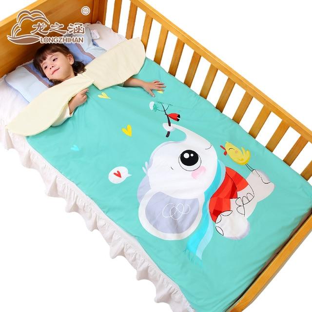 Children Sleeping Bag Baby 100 Cotton Kids Sack Infant Toddler Prevention Kicking Quilt 0