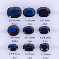 Natural non-optimized Australian sapphire large particle glass sapphire ring surface rough stone, can make jewelry for you