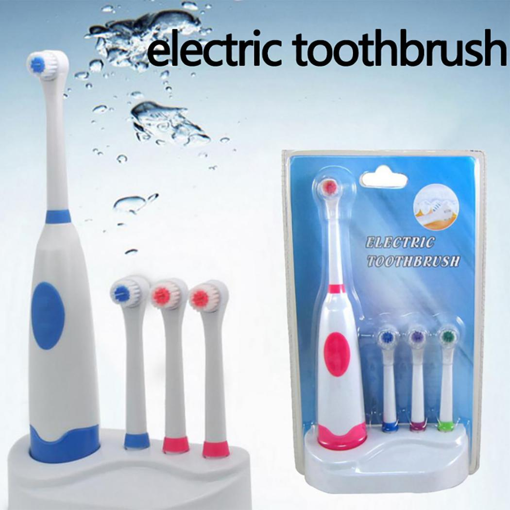 Electric Toothbrush Battery Type Deep Cleaning Electric Toothbrush Low Noise Head Replaceable Whitening Healthy White image