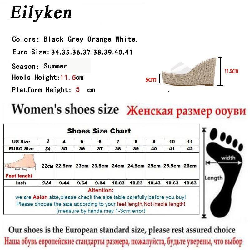 Eilyken 2019 New Summer PVC Jelly Sandals slippers Shoes Casual Sexy Wedges 11 5CM Women s Eilyken 2019 New Summer PVC Jelly Sandals slippers Shoes Casual Sexy Wedges 11.5CM Women's Sandals slippers size 34-40