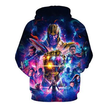 The latest marvel movie the avengers 4 hoodie jacket, spring and fall fashion casual hoodies for men and women 1