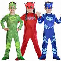 PJ Cartoon Masks Cosplay Costumes Catboy Owlette Gekko Boys Girls Cosplay Jumpsuits Halloween Christmas Streetwear Pajama