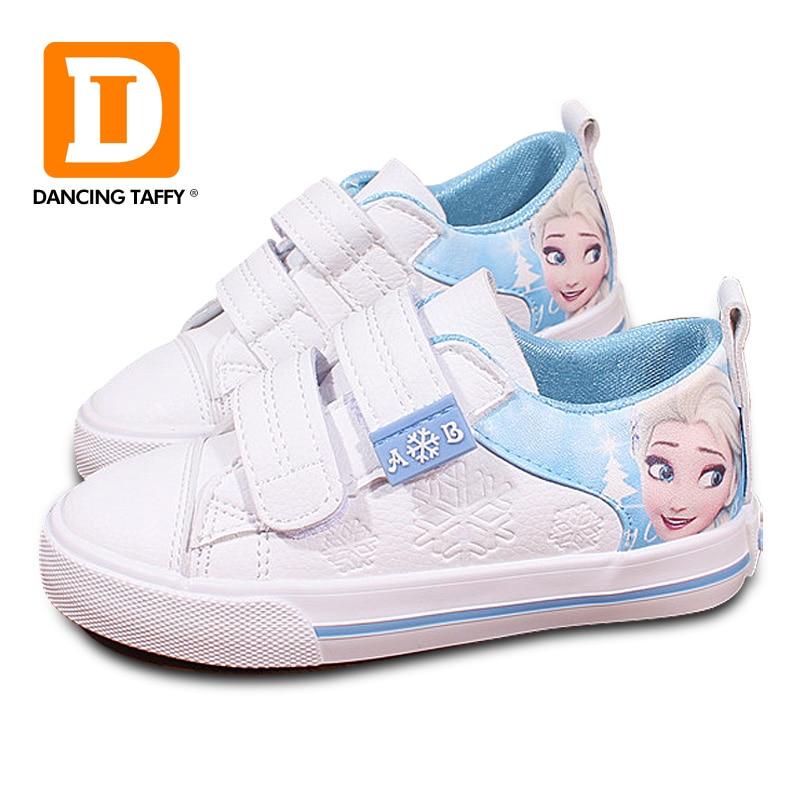 Niñas frozen elsa anna princesa zapatillas princesa niños zapatos moda Casual