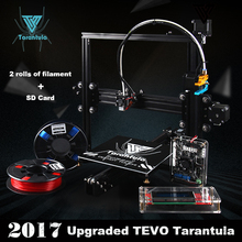 2017 Classic TEVO Tarantula I3 Aluminium Extrusion 3D Printer set 3d printing 2 Roll Filament SD card Titan Extruder As Gift