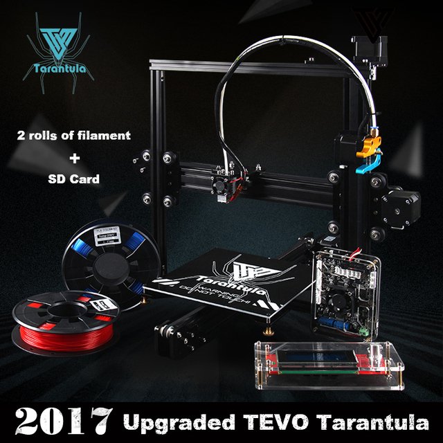 2017 Classic TEVO Tarântula Extrusão De Alumínio I3 kit Impressora 3D impressão 3d 2 Rolo Filamento SD cartão Titan Extrusora Como presente