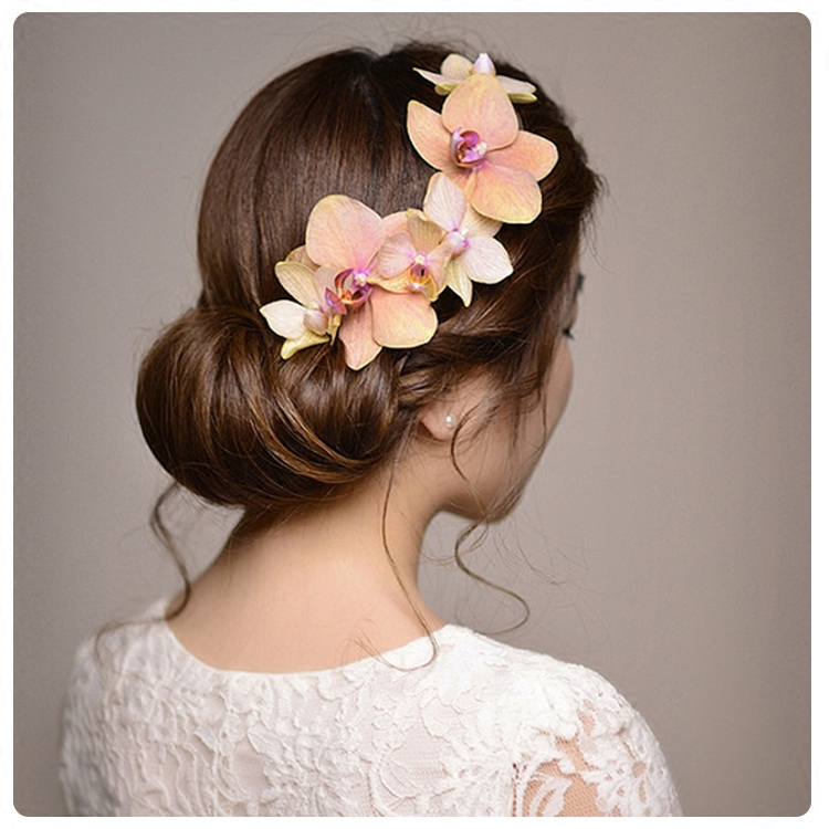 Country Wedding Hairstyles: Bride Diaries Flowers Barrettes Cute Bijoux Cheveux