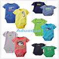 New 2PCS Baby Boys Bodysuits Newborn Clothes Body Bebe Short Sleeve Bodysuits Summer Infant Jumpsuit Clothes