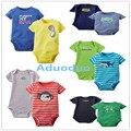 Nova 2 PCS Bebê Meninos Roupas Para Bebês Recém-nascidos Roupas Corpo Bebe Bodysuits Macacão Infantil Verão Roupas de Manga Curta