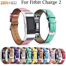 купить Bracelet leather strap for fitbit charge 2 band leather Smart Fitness Watch Band for charge 2 Replacement watch strap bands по цене 490.37 рублей