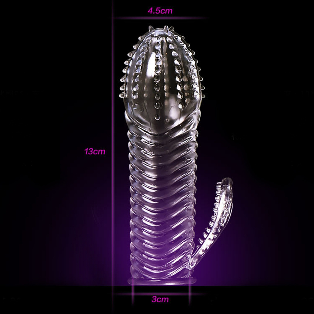 IKOKY Penis Ring Delaying Ejaculation Cock Ring Sex Toys for Men Reusable Condom Penis Sleeves Male Masturbation Penis Extension 7